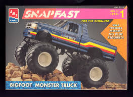 bigfoot the monster truck videos photo amt snapfast bigfoot monster truck vintage box art album
