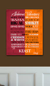 Tennessee Vols Home Decor Alabama Crimson Tide University Of Tennessee Volunteers House