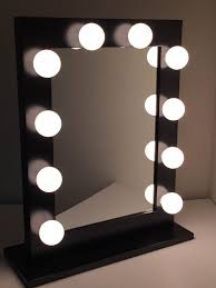 Makeup Mirrors Com Chic Hollywood Lighted Make Up Vanity Back Stage Mirror