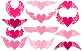 wings clipart winged heart pencil and in color wings clipart