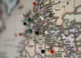 map tacks map push pins tack locations on map