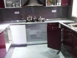 meuble cuisine en aluminium cuisine bordeaux gris alu