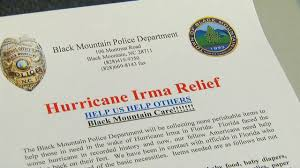lexus of henderson staff black mountain pd collects supplies for florida hurricane victims