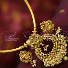fashion jewelry necklace sets images Nl4996 fancy temple curved pipe fashion jewellery set gold design JPG