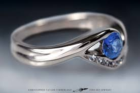 14k palladium white gold 14k palladium white gold engagement ring with sapphire