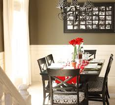 dining room wall decor with mirror glass door cabinet blinds