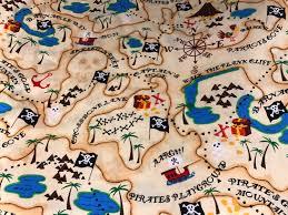 Map Fabric Pirate Treasure Map Fabric Map Fabric Pirate Fabric Pirates