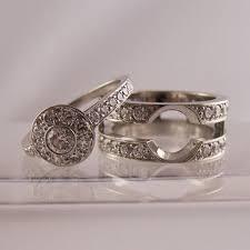 interlocking engagement ring wedding band wedding bands that fit around engagement ring slot to fit