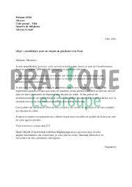 travail de bureau sans diplome lettre de motivation pour un emploi de guichetier à la poste
