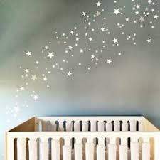Twinkle Little Star Nursery Decor Silver Confetti Stars Decal Twinkle Little Star Decal For Walls