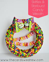 candy wreath candy gift wreath using skittles and starburst the cards we