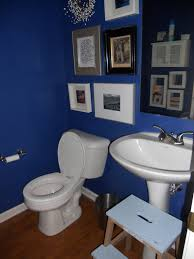 blue bathroom paint painted a cobalt blue cobalt blue bathroom