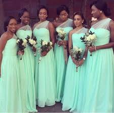mint green wedding bridesmaid dresses 2016 new cheap mint green one shoulder