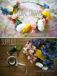How To Make Flower Hair Clips - diy flower crowns hair romance