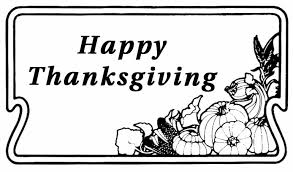 free clip of thanksgiving day clipart black and white 7603