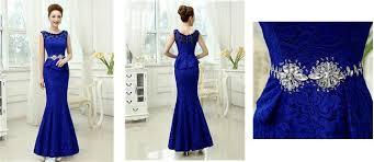 tb dress mermaid neck lace beading flower evening dress tbdress