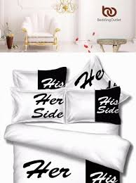 his and hers bed set black bedding set his side home textiles soft duvet cover and