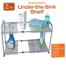 Kitchen Sink Shelf Organizer by Amazon Com 2 Tier Expandable Adjustable Under Sink Shelf Storage