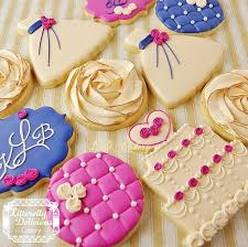 Shabby Chic Wedding Shower by 93 Best Cookies Wedding Images On Pinterest Decorated Cookies