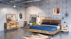 sala modern light wood bedroom set