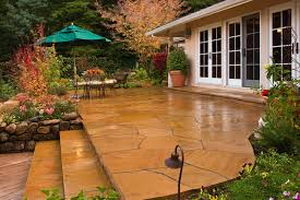 Cost Of Stamped Concrete Patio by Stamped Concrete Patio Cost Patio Contemporary With Arbor Bbq