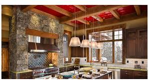 interior aspect brushed stainless long grain metal backsplash