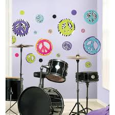 roommates zebra peace signs peel and stick wall decal rmk1860scs roommates zebra peace signs peel and stick wall decal rmk1860scs the home depot