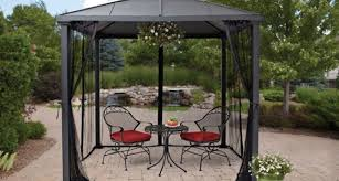 Mosquito Net Curtains by Pergola Gazebo With Screen Lovely Hexagon Gazebo With Insect