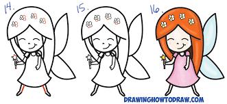 how to draw a cute cartoon fairy kawaii chibi from letter u0027k