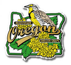 Montana State Flag Oregon State Bird And Flower Magnet Classicmagnets Com