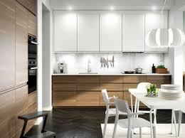 cuisine blanc et noyer cuisine contemporaine au design minimaliste ikea