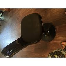 Tulip Dining Chair Black Eero Saarinen Style Tulip Dining Chair With White Cushion