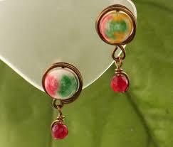 easy earrings easy wire wrapped stud earrings tutorials the beading gem s journal