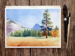 best 25 watercolor landscape tutorial ideas on pinterest