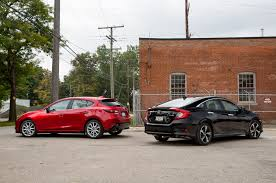 Civic Engine Size 2016 Honda Civic Touring Vs 2016 Mazda3 S Grand Touring Comparison