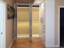 wall closets with custom closet lighting solutions for l shaped closet