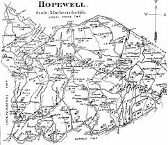 Pennsylvania Township Map by Washington County Genealogy Pagenweb Project Map Hopewell Twp