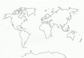 Blank Printable World Map With Countries by Continent Clipart Compass Map Pencil And In Color Continent