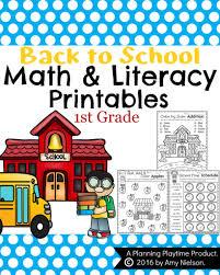 Schedule E Worksheet Back To First Grade Worksheets Planning Playtime