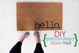 Come In And Go Away Doormat Easy Project For Summer Diy Personalized Door Mats
