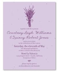 lavender wedding invitations lavender wedding invitations on seeded paper lavender simplicity