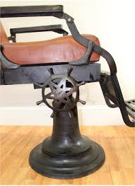 Vintage Barber Chairs For Sale Barber Chair With Leather Seat Cushions Cast Iron Base Hand Made