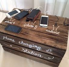 diy wood charging station charging station wedding reception forum weddingwire ca
