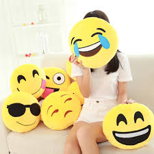 funny cute emoji pillow plush pillow coussin cojines emoji gato