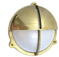 Nautical Wall Sconce Indoor Round Cage Light With Hood Beach Style Outdoor Wall Lights And