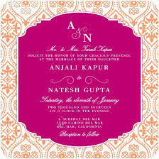 indian wedding invites indian wedding invitations square orange floral pattern with