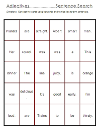 adjectives u2013 word lists activities and worksheets free