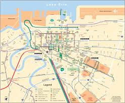 Map Cleveland Ohio by Cleveland Downtown Transport Map U2022 Mapsof Net