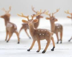 miniature plastic deer tiny woodland deer craft figurines