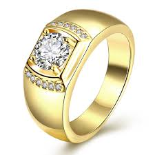 popular cheap gold rings for men buy cheap cheap gold gold color aaa zircon men wedding finger ring size 8 9 10